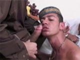 Sensational Cute and Horny Arabian Twinks Sucking an Monster Cocks In a Threesome