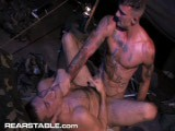 gay porn Grunts New Recruits || the Ultimate Gay-for-pay Top, Ricky Sinz, Gets Two Lots of Ass to Sort Through In This Military-themed Encounter With Hairball Rj Danvers and River Fiasco. He's About the Only Man We Know Is Up to the Job of Tackling These Wild, Uncontainable Stars and Has the Reins on Them Tight. <br />