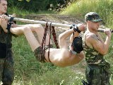 gay porn Caught In The Forest || Restrained and Hand-gagged Us-peacekeeper Brandon Gets Overwhelmed In the Dugout. the Soldiers Undress the Guy and Carry Him Away Like a Trophy. In the Rebel-camp He Gets a Brutal Double-face-fuck as a Start.