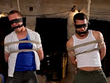 gay porn Tristan Jaxx & Eric Wild || A BG member gets tied up from head to toe and fucked.