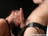 <br />logan Scott Is Harnessed Up With a White Jock and Combat Boots on His Knees Gagging on Rusty Steven's Dick. Rusty Thrusts His Meat Into the Gagging and Slobbering Piggy Logan. Rusty Eventually Grabs on to the Jock and Harness to Delivery His Thrust and Jab of Cock, Smacking the Ass With His Free Hand and Tearing Into the Hot Hole With His Dick. He's an Aggressive Top Who Looks for Every Way He Can to Delivery Every Inch.
