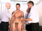 gay porn Terry Wanked || At Cmnm, Party Man Terry Has Proved Himself Untrustworthy to the Clothed Police Detectives. Now It's Absolutely Necessary to Get a Sperm Sample From This Cocky Lad. the Only Way to Do It Is by Handling His Sizeable Cock Themselves, Stroking His Firm Erection and Making Him Confirm What's Happening Aloud. Somehow Hearing Him Verbalize It Makes the Experience of Shamelessly Groping Him so Much Sexier. the Healthy Young Man Produces Buckets of Semen, Far More Than Is Needed for Testing so It's Best to Have Him Lap Up the Rest. Naked Terry Is Thoroughly Humbled Sucking His Own Sperm Off From the Older Clothed Men's Fingers.