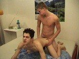 Two Incredibly Cute White Twink Boys Are Exploring Each Other on the Bed and Make All Their Sexual Fantasies Come True. These Two Are Flawless and Adorable as They Sixty-nine, Rim Each Other, and Finally Fuck Bareback to Conclude With Cum Facials.<br />