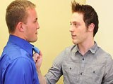 Jesse Jordan and Alex Andrews Come to an Agreement Over Renting Office Space, but It Isn't Until They Both Cum That the Deal Is Done. the Two Men Exchange Very Noisy Blowjobs; the Wet, Smacking Noises Echo Off the Empty Space's Walls. Alex May Drive a Hard Bargain as a Real Estate Agent, but It's His Hard Cock He Drives Up Jesse's Ass.