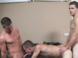 gay porn Jimmy Drake And Jamie || Jimmy, Jamie and Drake are in for a session of fucking and sucking but who is going to be doing what? Watch and find out for yourself if Jamie really can fit two cocks in his straight boy mouth!