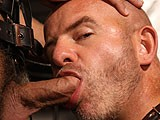 Jock Likes to Suck the Massive Head of His Older Daddies Big Dick, Then Eat Out His Hairy Hole and Fill It With Young Cock