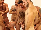 gay porn Butch Dixon Bukkake || Take a Team of Horny, Hung Studs and One Total Cock Whore....
