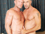 gay porn Lito Cruz And Chad Brock || The scene opens with Lito and Chad passionately kissing one another onthe bed as Chad slowly slides down to service Litos mammoth uncut cock.Chad sucks and swallows his huge tool right down to the base chokingand gagging on it as Lito holds his face down into his crotch. The sexsteps into high gear when Lito bends him over the side of the bed andburies his face into Chads firm hairy butt. Lito eats him vigorously ashis long tongue pokes and probes Chads ass as he nibbles on hispierced guiche. Lito teases his ass as he slowly inserts his HUGE cockhead into his raw hole with nothing more than sweat and spit. The actionintensifies when Lito fully slides his massive uncut tool into Chadsbareback hole. Chad begs and pants in delight as he is pummeled byLitos thick raw cock. Chad arches his back as he is straddled deep andhard!by his forceful thrusts. Chads bare butthole swallows his cockwithout hesitation as he rides Lito cowboy style. The scene sizzles asLito pulls Chad to the edge of the bed and throws his legs up in air.Chad holds his ass cheeks wide open for his huge fat cock head. Litopile drives his raw uncut cock into his willing butt hole withouthesitation. Chad screams in ecstasy as hes never had a cock that hugeinside him before. The scene reaches its climax when Lito breeds Chadsass slit with a huge thick load. He pulls his cock out as he continuesto shoot load all over Chads bareback butt. He sticks his cock backinto his sloppy sticky cumhole and continues to fuck the cum out ofChad. He shoots and sprays his white gooey nut all over his stomach andchest. The scene concludes with Chads ass covered in cum as Lito pullshis huge tool out. We are then left with the image of Chads gapingsloppy cum filled hole.
