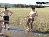 Ever Seen a Tug-of-war Competition With Cocks? Ericdeman Has a Horny Video of a Group of Horny Bored Guys Messing Around Naked In the Countryside. It's a Very Gentle War as the Dudes' Bell Ends Get Tightly Pulled. See Many More Real Guys Exposed In Self-shot Videos At Ericdeman.