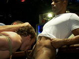 gay porn Sebastian Keys And Rob || Muscle god Robert Axel takes Sebastian into the local bar. They are getting hot and heavy in public and the crowd wants to see more. Robert orders a couple of dudes to take off Sebastian's clothes. Before you know it, everyone joins in for the feeding frenzy. Sebastian is made to suck all the cocks and one dude tries to shove a fist up the boy's ass. Sebastian manages a beer bottle up his ass and the crowd goes wild. They take him out into the patio and give him a nice public flogging. Everyone takes turns fucking him. They toss him into the water fountain and piss all over the poor boy. Well, not so poor; Sebastian is in heaven.