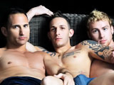 This weeks Manhunt member hookup features three hot guys that we filmed while playing around in an oversized chair from our most recent shoot in Miami. Cuban hunk Gabriel gets his ass filled with Bodie and Connors big dicks! While hanging out after doing their own scenes, these three studs hit it off and agreed to let us film their threeway. We captured some amazing overhead shots and lots of close-ups of their ass pounding adventure. After making out and sticking their dicks in each others mouths, Gabriel decides that its time his ass got all the attention. Bodie rims Gabriels hole before thrusting his meat deep inside, while Connor stuffs his manstick down Gabriels throat. Gabriel rides Bodie up and down and then turns over so Connor can glide his dick in that bubble ass too! The fuck-a-thon continues until Connor and Gabriel shoot their loads, and wait until you see the gusher from Bodie.