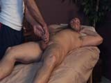 David Chase Is Now on His Back and In-house Masseuse Chad Brock Is Giving His Cock and Balls a Diligent Workout! as Chad Strokes David Aggressively, While Holding His Balls Tight In His Other Hand, David Is Left Practically Speechless!