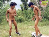 Wutt and Wattana Fool Around Playing Nude Football Then for Real Suck Fuck and Eat Ass.