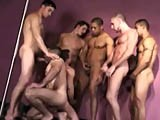 This All-star Gangbang Is Really Going to Get You Going. They Kissing and Sucking Each Other Cock, This Hot Guys Rimmed Great Asses In Preparation for a Deep Bareback Fuck Action