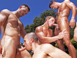 gay porn Blown Away || Cody is cumming out on top in this massive exclusive so big it took 2 different companies and 6 different exclusive models to make it happen. A cornucopia of cock and balls, it is literally raining men poolside, as Next Door exclusives Marcus Mojo, Rod Daily, Paul Wagner, Anthony Romero and Johnny Torque pair up with Falcon exclusive Landon Conrad for a knob-slobbing orgy that will blow your fucking mind. Watch the Next Door Stallion as he presides over a spit-shined spectacle of glistening, pulsating cocks. A parade of dicks in your eye, shoved down your throat and all over your face. And just when you think you couldn't possibly take any more... you guessed it: more dick cumming at ya! That's just how the balls bounce and the stick shifts. We think you'll be alright with that!