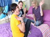 Gay Porn from GayLifeNetwork - Threesome-Slumber-Party