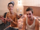 Brody Frost and Direly Strait Stop At a Motel on Their Way to a Concert When Poor Direly Realizes That His Boyfriend Is a Serial Cheater. Brody Is There to Comfort Him by Sucking on His Huge Dick. That Does Help Direly Who Says Thank You by Reciprocating With Some Delicious 69 Action. the Boys Don't Stop There and All of the Oral Soon Leads to a Hot Twink Fuck!