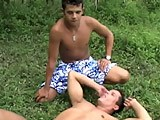 Wild and Horny Latino Twinks Show Us Some Excellent Outdoor Hard Fucked Action, This Hot Guy Rimmed Ass Really Well and His Tongue Is Darting Inside and Gently Licking All Around and This Hot Guys Are Very Sensual and Have Great Asses Bending Him Over and Doing Him Doggy.