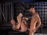 Kriss Aston Is a Big Muscled Man Enslaved by the Idea of Being Dominated by a Master. Sucking Will Helm's Tasty Cock, He Massages the Firm Meat Pole With His Tongue. Will Is Appreciative as He Looks Down on His Big Boy but Soon, Crazed With Lusty Power, He Demands More. In a Flash He's Positioned Behind Kriss Jamming His Asshole With His Hefty Rod and Pounding It Down With a Non-stop Series of Thrusts.