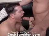 gay porn Steve And Parker || Parker London Is a Hot, Sexy Bottom to Steve Vex's Thick, Long Cock. Steve Loves Shoving His Big Prick Down Parker's Throat, Gagging Him Repeatedly. Parker Enjoys Swallowing Steve's Pole so Much He Stays Rock Hard. Lucky for Parker, His Mouth Isn't the Only Thing Steve Wants to Shove His Dick Into. Steve Plows Parker's Tight Hole as Deep as He Can Thrust. This Sends Parker Over the Top and He Deposits a Creamy White Load Onto His Abs While His Ass Holds Onto Steve's Cock. Seeing Parker's Seed Makes Steve Drop His Load All Over Parker's Beefy Body.