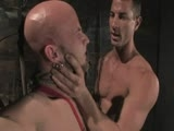 gay porn Rusty Stevens And Drak || Farmer Rusty Stevens is angry with punks having keg parties in his cornfield. He finally catches Drake Jaden who passes out on his property. Rusty takes Drake to his barn to teach him a lesson. Drake endures flogging,the crop, candle wax, hard cock sucking and fucking in bondage.
