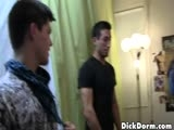 gay porn Dominic || A glory hole surprise has a roommate speechless!