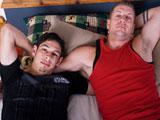 gay porn Cam And Tony || Two thick cocks and lots of flip flop fucking this week with horny studs Cam and Tony. Both Tony and Cam are ready to fuck, but not before porn star Jeremy Hall asks them some questions about their skills in bed. Apparently, Tony can suck his own dick and Cam can fuck himself (watch for it in an upcoming bonus episode). All the hot talk gets our boys hard and the clothes fly off. Tony chokes on Cam's massive piece until Tony suggests an &quot;air 69&quot;. Cam lifts him off the bed and Tony swallows his cock while being held upside down with Cam blowing him at the same time. What a sight to see! Tony bottoms first, but not before Cam licks that tight hole of his. This begins the flip flop fucking with each of our hunks taking at least two or three turns on each other's butts. The scene ends with Tony's ripped chest getting covered in cum.