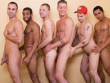 gay porn Atlanta Orgy || Recently Manhunt launched a brand new chat feature free to its members so to help both celebrate and publicize we decided to do a live webcam show at our recent shoot in Atlanta. We had no idea that this would turn into a full out live ORGY! Porn Stars Jeremy Hall and Pierre Fitch take turns stuffing their massive cocks inside the mouths and butts of hot studs Trey, Cam, Tyler and Sebastian. All the action starts with Cam drilling Trey while Sebastian pounds Tylers bubble ass. Theres even a contest. Trey deep throats both Jeremy Hall and Pierre Fitchs torpedoes, and then has to choose who has the better tasting cock! There are three-ways and group jerk-offs too. Our first stud to shoot his load is Trey while fucking his own hole with a dildo. The rest of our hunks need a little more anal action before they can cum. Cam gets nailed by Sebastian, while Pierre Fitch pummels Tylers butt with his manmeat. Theres plenty of cock for everyone!