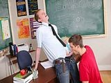 gay porn Teacher Wants Cock Inside || Ace Sterling Stands At the Front of the Classroom Trying to Convince Jordan Dallas That He Should Be More Relaxed and Friendly With the Teacher. There's No Reason They Can't Be Friends. Maybe They Can Be Friends With Benefits. Jordan Is Into That and Soon Can Be Seen on His Knees Giving His Teacher a Blowjob. Teach Likes That and Wants to Return the Favor. <br />