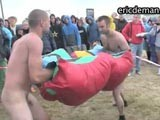 Naked Boxing In Public || 