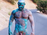 gay porn La Zombie || A lone hulking creature (international adult star and model, Francois Sagat) emerges from the depths of the Pacific Ocean. Possessing the ability to reanimate the dead through depraved acts of man-sex, our creature prowls the streets of Los Angeles looking for corpses to gorge his sexual thirst. A critically acclaimed movie on the festival circuit, L.A. Zombie is cinematic, erotic, and pushes the envelope of art, porn, and the zombie-horror genre.