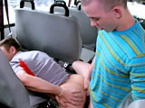 gay porn College Boy Gets Schooled - Pa || '''This weeks victim was just trying to get to school on a rainy, ugly Miami day. Being the good citizens that we are we decided to stop and give him a free ride. We even went as far as putting some money in his pocket so he could buy books or whatever the fuck college kids spend there money on these days. Oh did I mention he swallowed my friends sausage and got his young tight asshole pounded out on the bus. well he did.