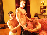 gay porn Alexy Alexander And Cody || 'Well you can't win them all! We brought tanned straight stripper Cody to our last shoot in Florida in hopes of him having his very first gay experience. He did great on his solo but was super nervous about doing something with another guy so we decided to pair him up with Alexy and Alexander. We told Cody to take it as far as he was comfortable and that there was no pressure. So Alexander and Alexy proceeded to oil up his awesome muscle bod a give him a hot 4 handed massage. They even played around with his ass a bit but that was enough for Cody who literally walked out in the middle of the scene. The full video shows all the intense moments but once Cody left Alexy and Alexander didn't miss a beat and just jumped into things between the 2 of them and finished the scene with some deep sucking and some hot fucking! Like I said you can't win them all but we may just invite Cody to our next shoot and see what happens!