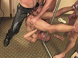 gay porn Slave Fucked Upside Do || a Pig Slave Gets Fucked Upside Down on the Floor.