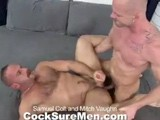 "gay porn Samuel And Mitch || It Doesn't Get More Intense Than This. Super Star Samuel Colt Makes His Debut on Our Site and Flips With Cocksure Men Discovery Mitch Vaughn In a Sizzling Scene. Both Studs Are Top-of-the-line Cocksuckers and Swallow Each Other Down to Their Balls. Samuel Punches and Paws At Mitch's Enormous Pecs and Then Switches Gears Down to Mitch's Tasty Ass. Samuel Tongues Mitch Deep, and Then Rubs His Cock Over Mitch's Hole, Teasing Him for What's to Come. Mitch Spreads Wide and Samuel Thrusts His Thick Dick Deep Inside Slamming Mitch Fast and Hard. In Both Missionary and Doggie, Samuel Makes Sure Mitch Takes Every Inch. With a Devilish Grin Mitch Exclaims ""now It's Your Turn!"" Flipping Furry Samuel on His Back. Mitch Rams Samuel Fast and Furious, Returning the Aggressive Fuck He Received Just Moments Earlier. Feeling Mitch's Cock Up His Ass Causes Samuel to Cum All Over His Hairy Belly. He Licks Some of His Own Cum Off His Fingers and That Sends Mitch Overboard. Famous for His Massive Streams of Cum, Mitch Sends Multiple Loads Flying All Over Samuel. Sam Fingers and Licks Up Mitch's Cum, Too."