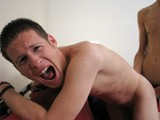 gay porn Chase's Painful Fuck Pt 2 || After the Amazing Blow Jobs Presented Last Week, I Brought A.j. and Chase Back so We Could Finally Get Down to the Business of Butt Fucking. After a Bit of Discussion About Who Would Be on the 'top' and Who Was Going to Be the 'bitch,' It Became Obvious That Chase Was Ready and Willing to Take A.j.'s Cock for the Team.<br /><br />the Boys Start Off With Some Sensual Kissing, and Soon A.j. Gets Chase on His Knees Where He Feeds Him His Cock. He Instructs Chase on the Finer Points of Cock Sucking, Making Sure He Takes His Dick Deep, Causing Chase to Gag on the Dick. A.j. Continues to Fuck His Hot Mouth, but We All Know What He Really Wants...a Bit of Chase's Vegetarian Ass Burger!<br /><br />futon Spread Out, A.j. Moves Chase Into the Doggy Position Where He Performs an Act He Obviously Relishes, Rimming. This Man Must Work Wonders With That Tongue on the Ladies, as His Long Tongue Pushes Deep Inside Chase's Beautifully Smooth and Tight Ass, Causing Him to Moan In Pleasure. <br /><br />but With This Straight Boy's Pleasure Is Going to Have to Come a Bit of Pain. A.j.'s Cock Visibly Becomes Rock Hard, and It's Time for Him to Insert It In Chase's Tiny Little Hole. A.j. Gets It In and You Can See the Pained Look on Chase's Face. 'how Do You Like That Dick?' Asks A.j. to Which Chase Replies 'it Feels Huge.'<br /><br />download the Full Hd Video