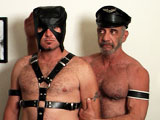 gay porn Tony's Slave || I caught the eye of a leather dude on a Harley one day. He followed me home where he crept in the back door. Once he found out what I'm into, he wanted to film so I put a hood over his head to shame him and forced him on to his knees to worship my cock and balls. Then I flipped him over the edge of my bed and ate out his hole. It tasted so good as I got him ready for my dick. I slid my cock in balls deep and began to slowly and rhythmically pump his ass, all the while holding on to his harness as he begged for more. Then I shoved a dildo up his ass and made him cum. I pulled out daddy's helper and shoved in my cock just as I was shooting and amazing stream of spooge. A fast and furious fuck for sure. I'm sure he'll be back for more.