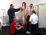 Football Player Charlie Has Received a Fully Naked Physical Exam At Cmnm. In Contrast to His Trim Muscular Body, the Sporty Lad Has a Really Heavy Set of Balls and a Big Clumsy Penis. They Cause Him Enormous Trouble Jangling Around In His Football Shorts as He Runs Down the Field. to Relieve the Tension His Superiors Manipulate His Penis Causing Him to Grow a Large Erection. With Such Stimulation, the Thoroughly Embarrassed Lad Can't Stop Himself From Ejaculating All Over His Boss' Suit.