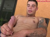 Masculine Papi With a Nice Hot Hard Cock Strokes Off and Shoots a Massive Load