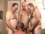 You Never Really Know What Will Happen When You Put 4 Hot Naked Mature Men In the Same Room and Turn on the Camera but This Time We Caught Some Insanely Hot Cock Sucking and Jerking Off on Tape and It All Ends With One of Them Taking 3 Loads to the Face!