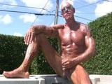 gay porn Muscle Daddy Jerking || We Where Enjoying a Beautiful Day by the Hot Tub When Our Good Friend Stopped by and Wanted to Give Us a Bit of a Show - We Never Say No to a Hot Muscle Daddy so We Got Out the Camera and Just Enjoyed the Jerking and Toy Show He Put on for Us.