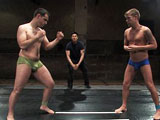 gay porn Cole Ryan Vs Braxton Bond || Pretty boy Braxton Bond takes on beefy Cole Ryan. Braxton brings his cocky no nonsense attitude to the mat with street cred to boot. Cole brings some wrestling and kickboxing experience to back up his weight advantage. Check out these Naked Warriors pulling all the punches to become top at the end of the day.