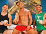 gay porn Pleasure Party || 'Have you been excited to experience Cody Cummings's signature new playthings from Fleshjack?! This is your chance to see them in action with some of the hottest dudes around! Cody is showing off not just his new immortalized cock, but also his brand new mouth Fleshjack AND butthole Fleshjack!!! You won't believe what Joe Parker is doing to Cody's mouth toy while enjoying the man himself right in front of him. And Ty Roderick is going where no man has before as he enjoys the real-life textured feel of Cody's ass Fleshjack!