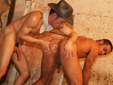 Nothing better than seeing a couple of hot men out in the barn going for each other. These Brazilians are hot and hung and full of cum. And they sure know the meaning of raw bareback sex. Felipe has a massive uncut curvy tool and he sure knows how to use it on Gabriel who swallows that cock way up inside his hole, begging for more (in Portuguese) but no need to translate. Felipe is a true bareback Master using his rod to fuck Gabriel in every possible position before the two spill thick and creamy man loads for our cameras. YUM!