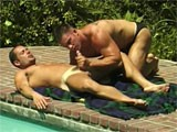 gay porn Muscle Hunks Outdoors || Two Muscle Studs Having Sex Outdoors.