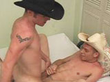 Hey guys - instead of the Sean and Taz scene for this update, we're making a last minute change to this cowboy duo. These boys look hot in their attire - especially Nathan who is one cowboy I wouldn't mind riding.