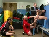 gay porn Footballer Stripped || In the Cmnm Locker Room, Two Players Have Been Brought Off the Field After Fighting. Allegedly There Has Been Foul Play During the Game. the Referee and Coach Need a Physical Demonstration of What Happened. Hard-bodied Muscular Jason Is Very Defensive Fumbling as the Clothed Men Direct Him In Cupping His Opponent's Balls and Fingering His Ass. Thousands of Hollering Fans Are Just Outside the Door Without Any Idea That Within the Privacy of These Dirty Rugby Chambers These Two Star Players Are Stripped Down Naked Getting Their Assholes Examined for Evidence of Being Fingered.