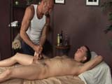 gay porn Making Bobby Knight Cum || Straight Guy Bobby Knight, Rubbed and Stroked by Clubamateurusa's In-house Masseuse Chad Brock, Delivers a Huge Load, Blown Across His Stomach and Torso!