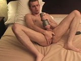gay porn Jay Kyle || This Was Jay Kyle's Second Video for Us. Jay Strips Butt Ass Naked, Strokes His Dick Leading Into Fucking His Fleshlight Until He Shoots His Load Deep Inside This Hot Jackoff Fuck Toy. Soon After, He's Dumping His Cum Out of the Fleshlight Onto His Hot Body.
