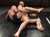 gay porn Brock Armstrong Vs Tob || This week, muscular Brock Armstrong takes on the notorious Bound Gods dom Tober Brandt. The naive and cocky Brock comes to Naked Kombat as a former state champ wrestler, and can't wait to teach Tober what it's like to deal with refined skill. Tober, on the other hand, brings his street smarts and experience as a bouncer to show Brock that on this mat, rules will get you nowhere. These fighters are evenly stacked, and it doesn't take long for it to get personal between the two of them. Who will take the prize in this contest between proven method and rebellious disregard?